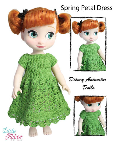 Spring Petal Dress Crochet Pattern for Disney Animators' Dolls