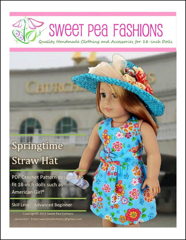 Sweet Pea Fashions Crochet Springtime Straw Hat Crochet Pattern Pixie Faire