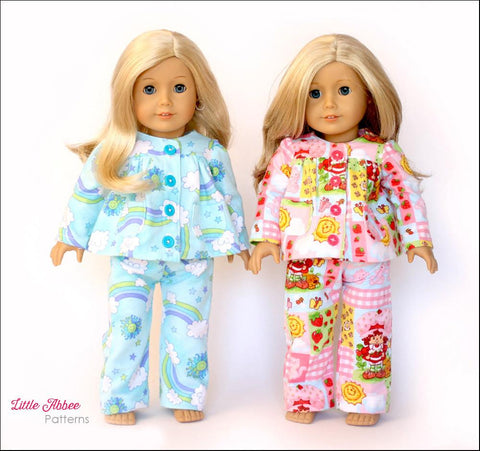 "Slumber Party Pajamas 18"" Doll Clothes"