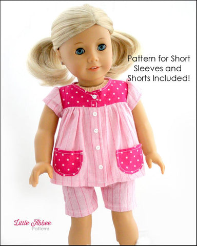 "Slumber Party Pajamas 18"" Doll Clothes Pattern"