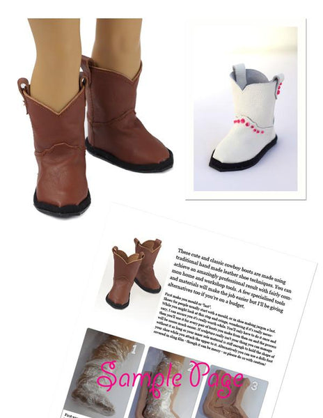 Leather Cowboy Boots 18 Inch Dolls Pattern Pdf Download