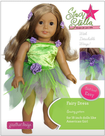 "Fairy Dress 18"" Doll Clothes Pattern"