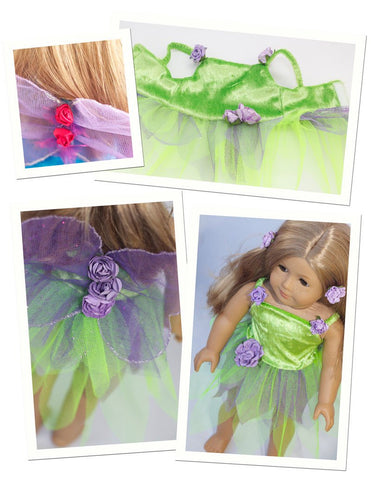 "Stacy and Stella 18 Inch Modern Fairy Dress 18"" Doll Clothes Pattern Pixie Faire"