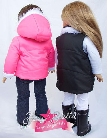 "Puffer Jacket 18 "" Doll Clothes Pattern"