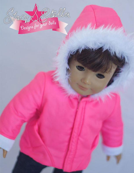 Puffer Jacket 18 Inch Doll Clothes Pattern Pdf Download
