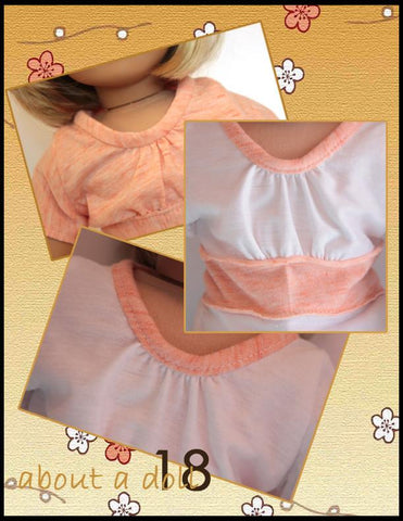 "Sweet Tee 18"" Doll Clothes Pattern"