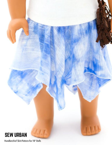 "Handkerchief Skirt 18"" Doll Clothes"