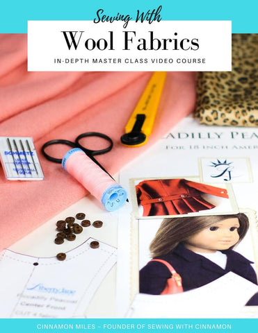 Sewing With Wool Fabrics & Piccadilly Peacoat Sew Along Master Class Video Course
