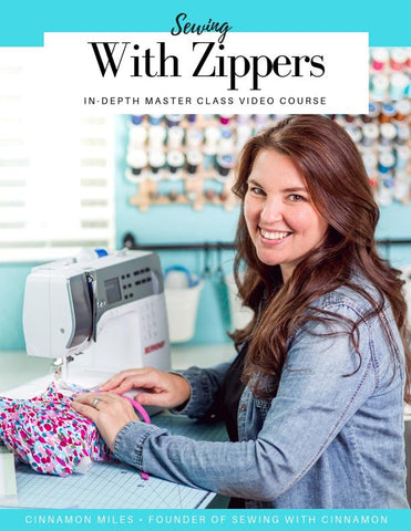 SWC Classes Sewing With Zippers - Master Class Video Course Pixie Faire