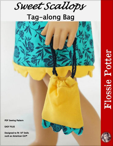 "FREE Sweet Scallops Tag-along Bag 18"" Doll Accessory Pattern"
