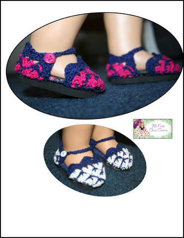 "Nanice Shoes 18"" Doll Crochet Pattern"