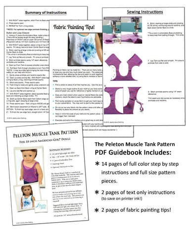 "Peleton Muscle Tank Top 18"" Doll Clothes Pattern"