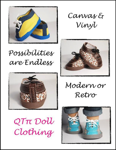 "Retro Sneakers 18"" Doll Shoes"