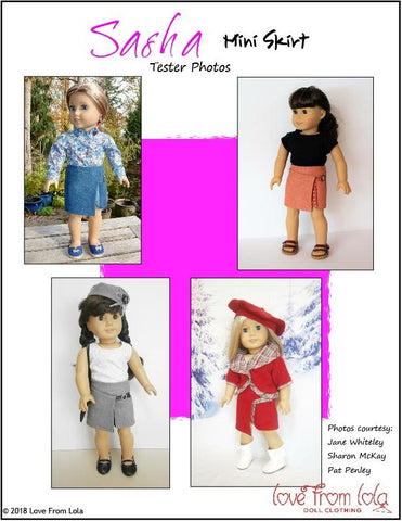 "Sasha Mini Skirt 18"" Doll Clothes Pattern"