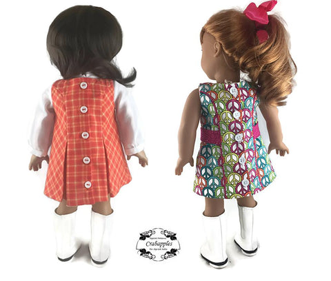 "Sassy Sixties 18"" Doll Clothes Pattern"
