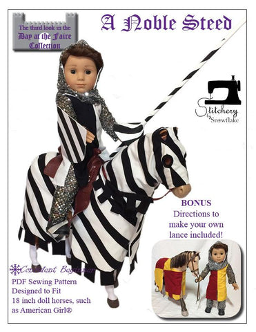 "Stitchery By Snowflake 18 Inch Historical A Noble Steed 18"" Doll Pet Pattern Pixie Faire"