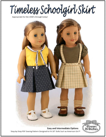 "Timeless Schoolgirl Skirt 18"" Doll Clothes"
