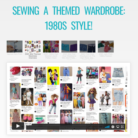 Sewing A Themed Wardrobe: 1980s Style Master Class Video Course