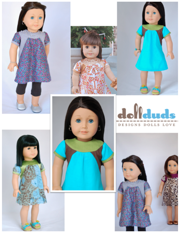 "Ring Collar Dress 18"" Doll Clothes"