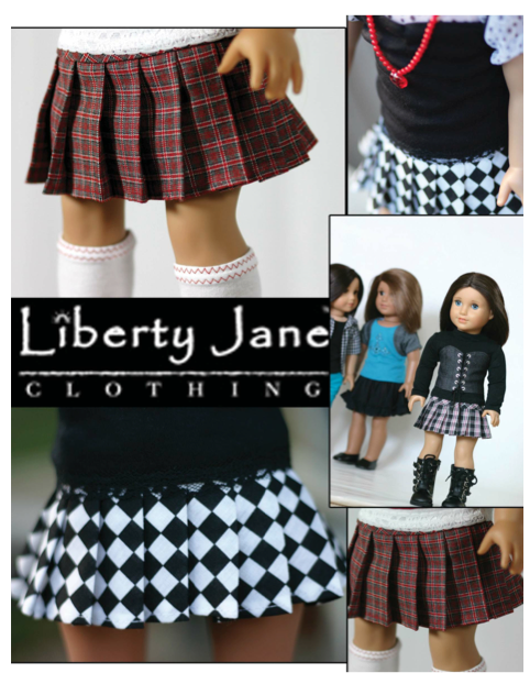 3f0c9493b Pleated Skirt 18 inch Doll Clothes Pattern PDF Download | Pixie Faire