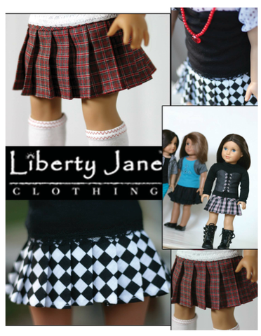 "Pleated Skirt 18"" Doll Clothes Pattern"