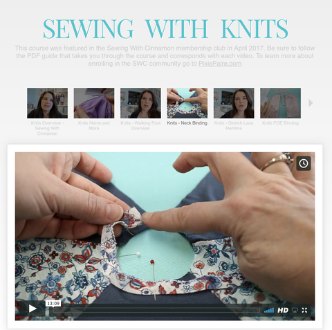 Sewing With Knit Fabrics - Master Class Video Course