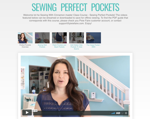 Sewing Perfect Pockets - Master Class Video Course