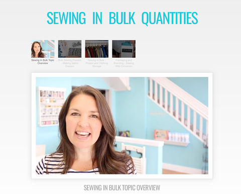 Sewing In Bulk Quantities - Master Class Video Course