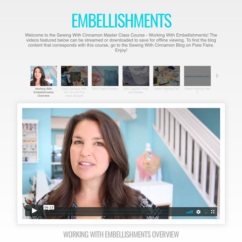 Working With Embellishments - Master Class Video Course