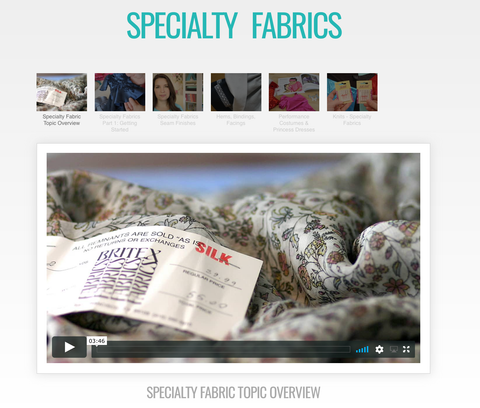 Sewing With Specialty Fabrics Master Class Video Course