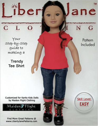 "Free T-Shirt Pattern for 21"" Karito Kids Dolls"