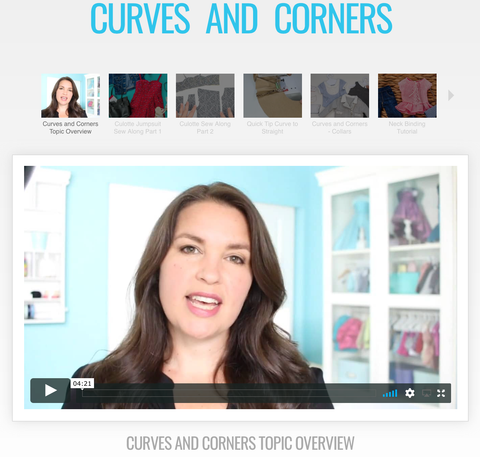 Sewing Curves and Corners Master Class Video Course