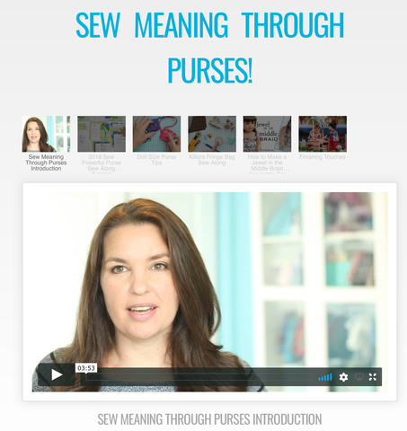 Sewing Meaning Through Purses SWC Master Class Video Course