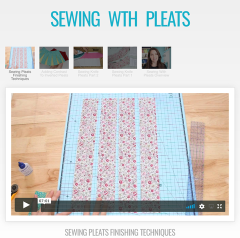 Sewing Perfect Pleats Master Class Video Course