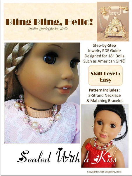 Bling Bling Hello Sealed With A Kiss Doll Jewelry Pattern