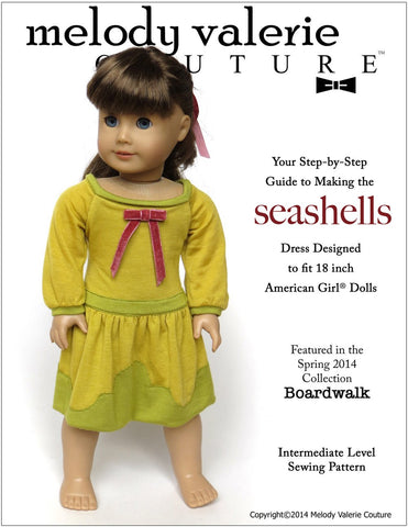 "Seashells Dress 18"" Doll Clothes"