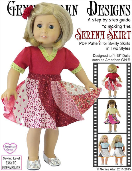 Genniewren Designs Serena Skirt Doll Clothes Pattern 18