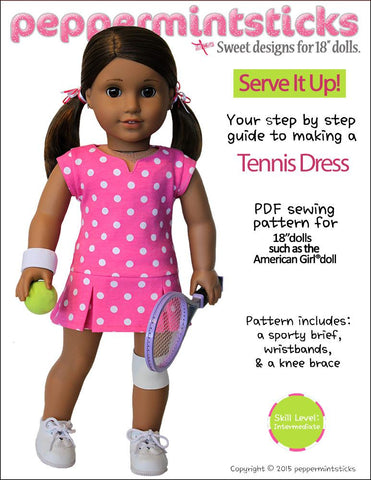 "Serve It Up! Tennis Dress 18"" Doll Clothes"