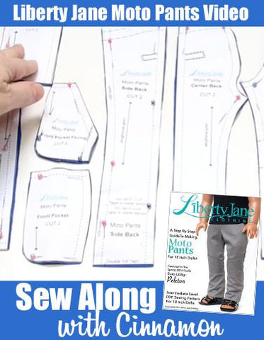 Moto Pants Sew Along Video With Cinnamon