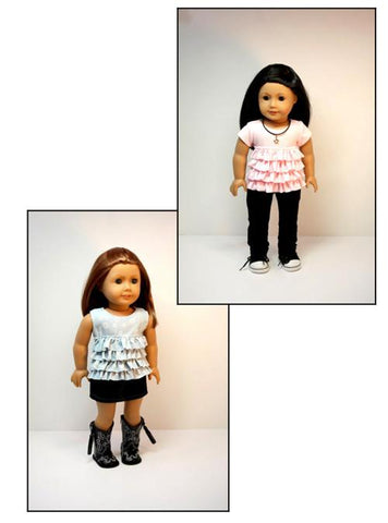 "Ruffled Top 18"" Doll Clothes Pattern"