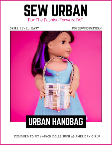 "Sew Urban 18 Inch Modern Urban Handbag 18"" Doll Accessories Pixie Faire"