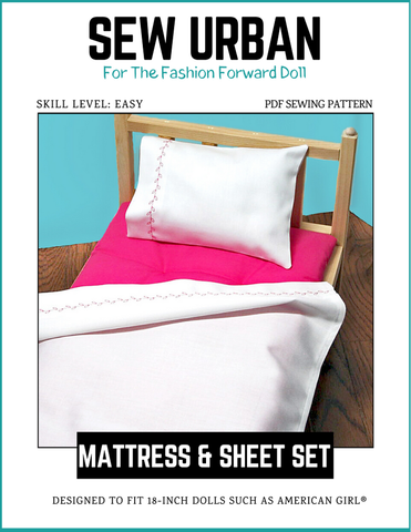 "Mattress and Sheet Set 18"" Dolls"