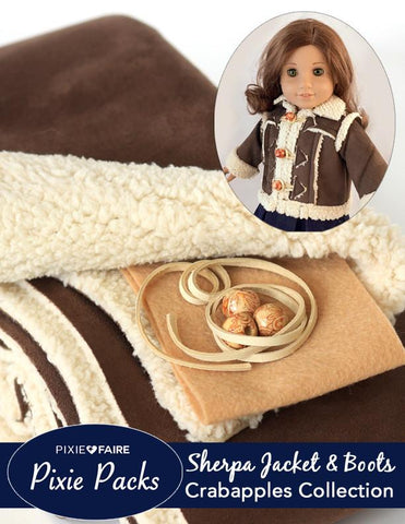 Pixie Packs Cocoa Sherpa Jacket and Boots Kit