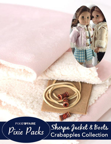 Pixie Packs Pink Sherpa Jacket and Boots Kit
