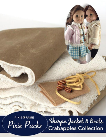 Pixie Packs Taupe Sherpa Jacket and Boots Kit