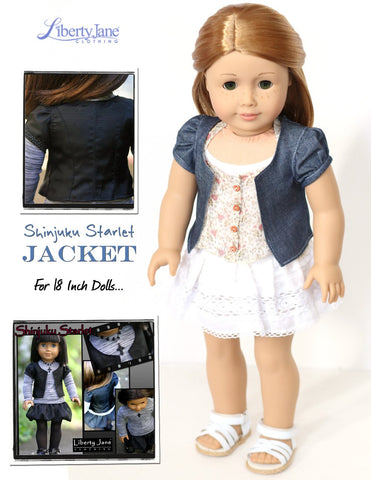"Shinjuku Starlet Jacket 18"" Doll Clothes Pattern"