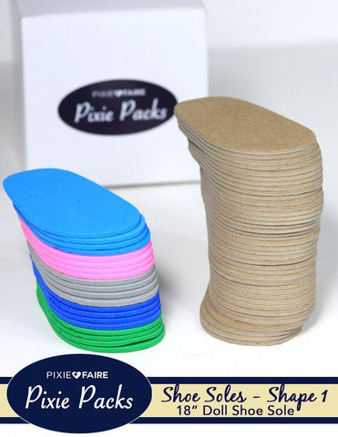 Pixie Faire Pixie Packs Pixie Packs SHAPE 1 Pre-cut Shoe Soles 2mm Color Variety 2 Pixie Faire