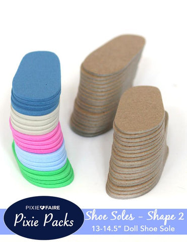 Pixie Packs SHAPE 2 Pre-cut Shoe Sole Foam and Chipboard Color Variety 2