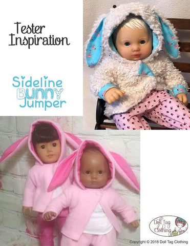 "Sideline Bunny Jumper 18"" Doll Clothes Pattern"