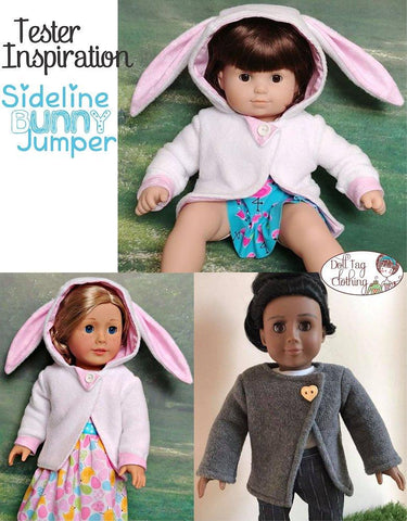 18 inch doll clothes pdf sewing pattern bunny sweater top designed to fit American Girl